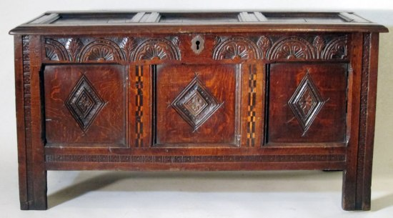 18 - Joined and Paneled Coffer c 1675