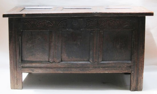 32 - Joined and Paneled Coffer 1625-1650