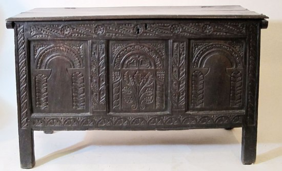 Joined and Paneled Coffer 1675-1700