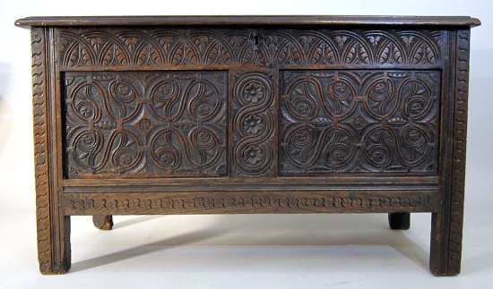 Joined and Paneled Coffer c 1675